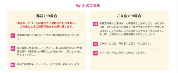 仙台銀行カードローン 契約までの流れ