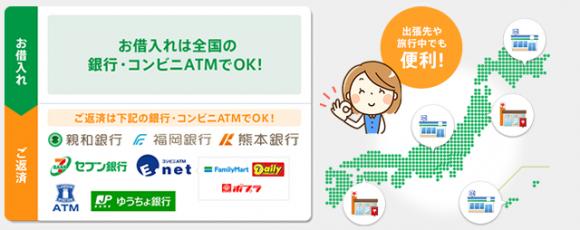 親和銀行カードローン 提携ATM