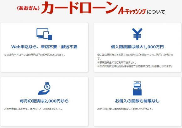 青森銀行カードローン 特徴