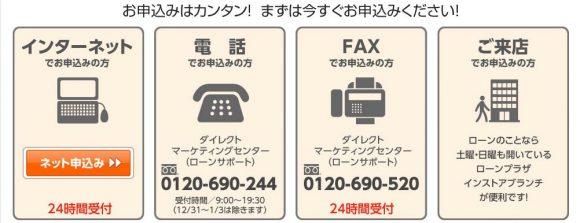 鳥取銀行カードローン 申し込み方法