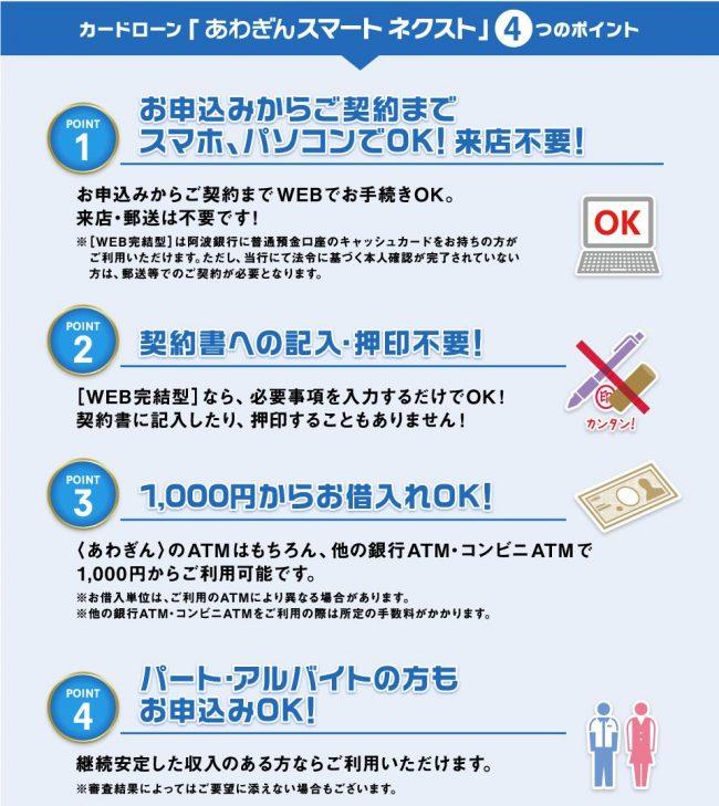 阿波銀行カードローン 特徴