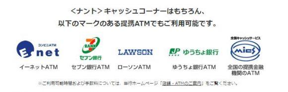南都銀行提携ATM
